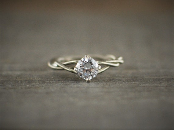 Guitar String Engagement Ring Purity Ring Guitar Gifts Wedding Ring Guitar String Jewelry Birthstone Ring Unique Engagement Ring