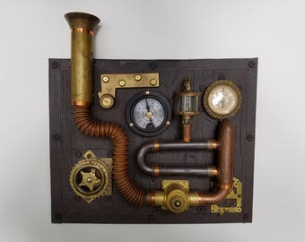 Machine 1 - a one of a kind Steampunk wall exhibit