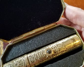 64Gb brass etched USB drive in antique brass case