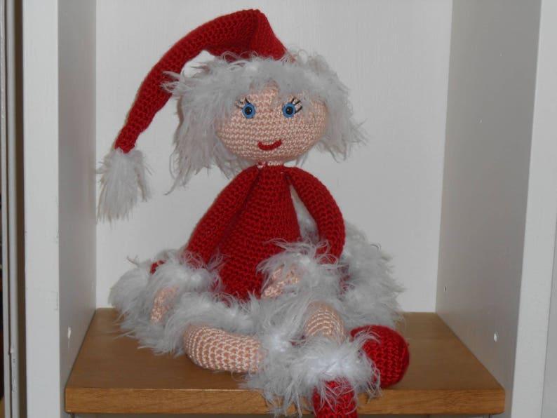 Tutoriel Explications Miss Noël 60 Cm Tuto Patron Au Crochet Etsy
