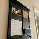 Shutterfly Calendar Framed Family Command Center Mail with Single Pocket Organizer Bulletin Board Cork & Chalkboard Front Loading feature