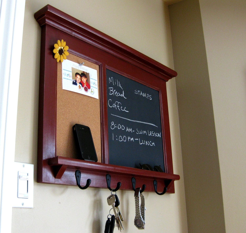 Wall Shelf Bulletin Board Cork Board Kitchen Chalkboard Etsy