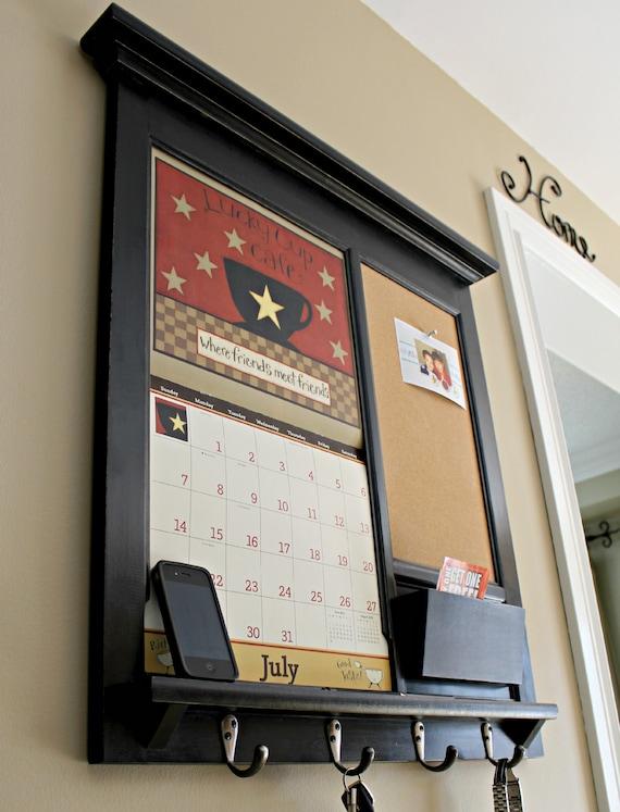 Wall Calendar Frame Front Loading Home Decor Framed Furniture Etsy