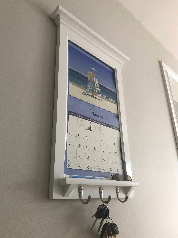 Calendar Frame Family Organizer Storage Shelf And Keyhook Etsy