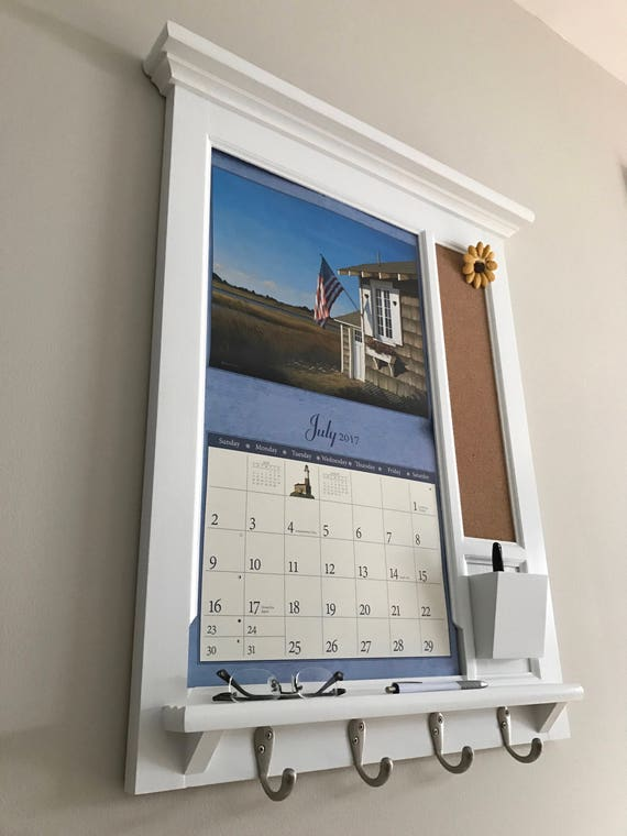 Mid Sized Wall Calendar Frame Front Loading Home Decor
