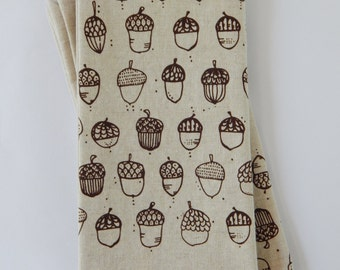 Cloth Napkins, Hand Printed Napkins, Set of 4 Natural Linen / Cotton Blend, Hostess Gift, Cloth Napkin Set, Mixed Set for Rebecca
