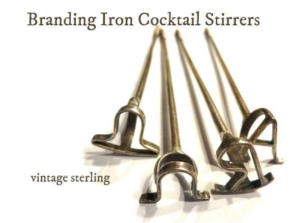 Art Deco Style Sterling Silver Cocktail Stirrer// Swizzel Stick