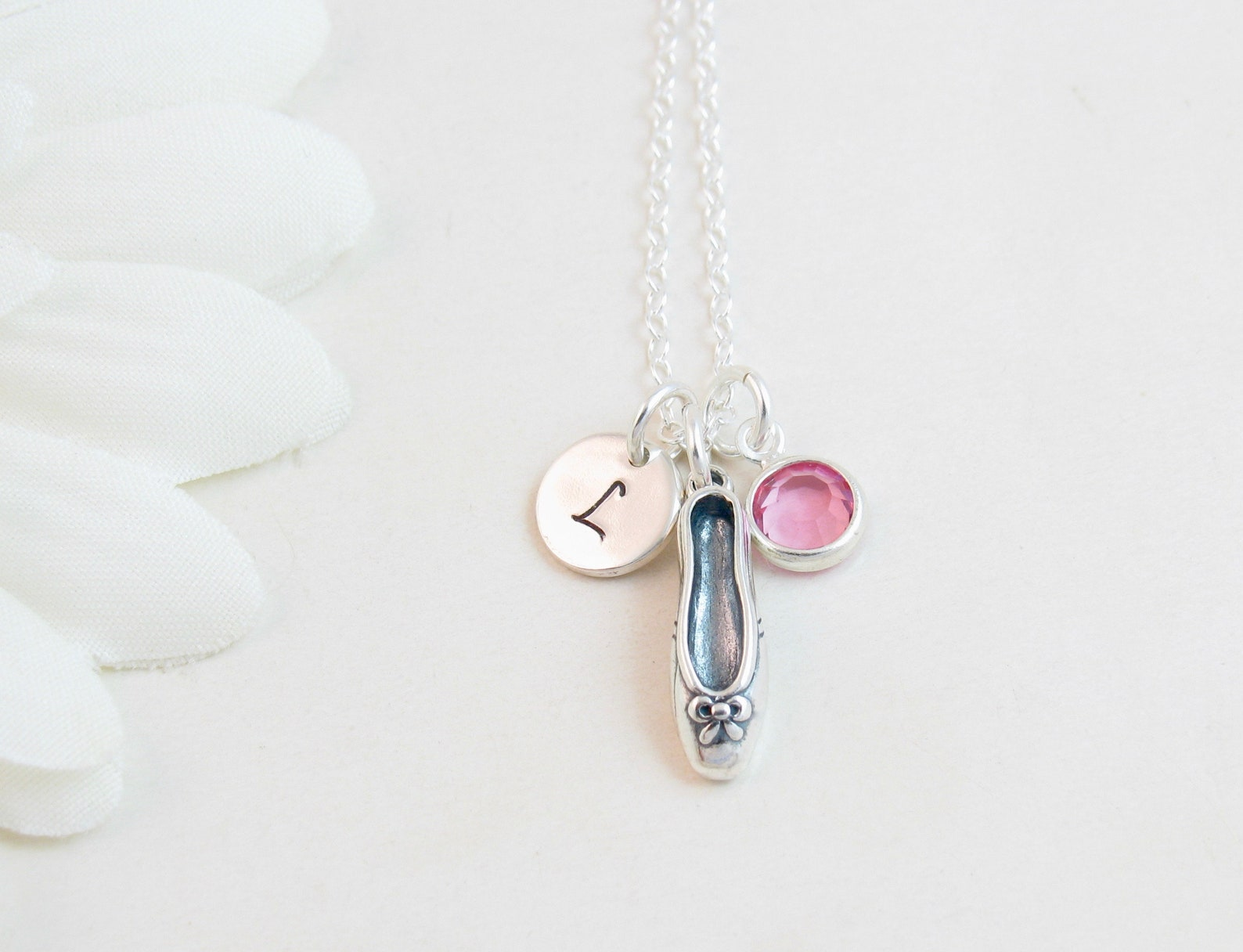 ballet ballerina necklace - first dance recital - dancer necklace - ballet shoe necklace - personalized ballerina gift - dance t