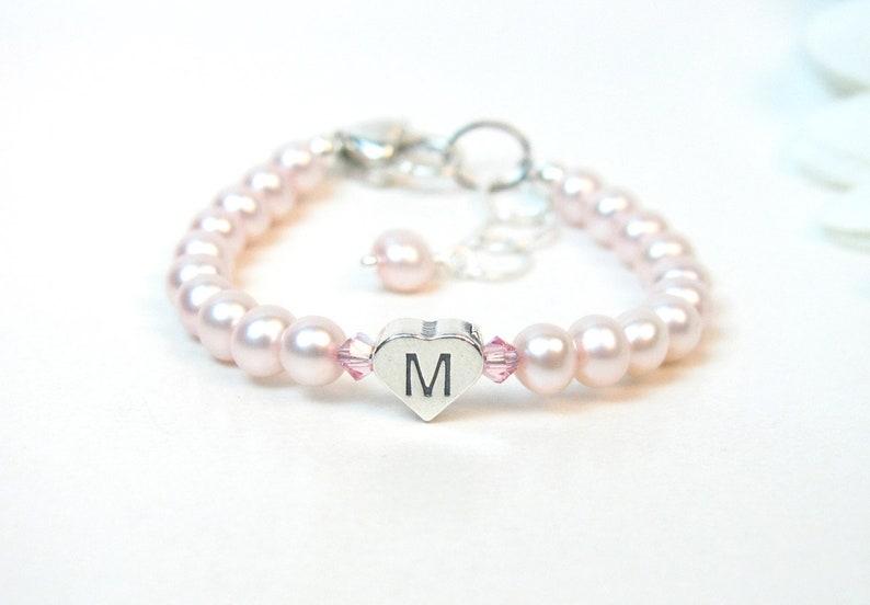 54d64e83c Baby Girl Bracelet Personalized Pink Baby Bracelet Infant | Etsy