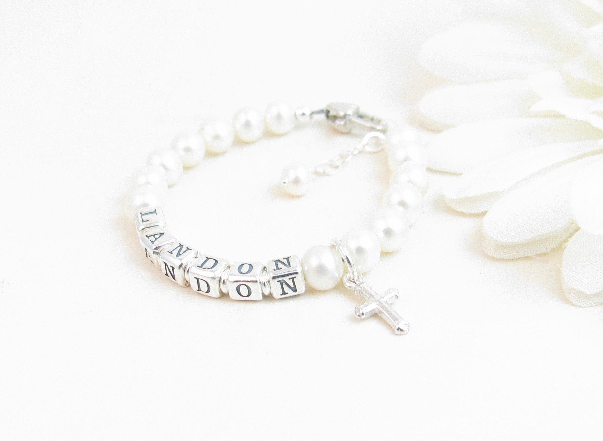 "NEW Baby Keepsake Silver-Plated 5.75/"" Cross w//Ribbon Non Tarnish Christening"