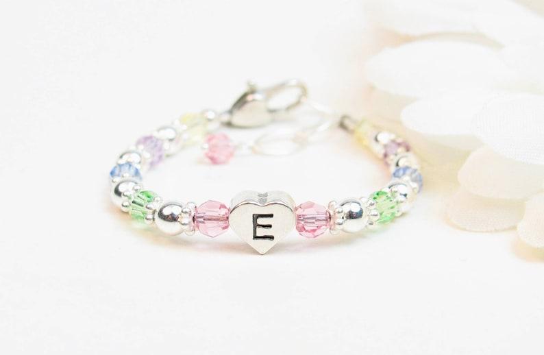 36e1856c5 Baby Girl Initial Bracelet Personalized Baby Bracelet Girl | Etsy