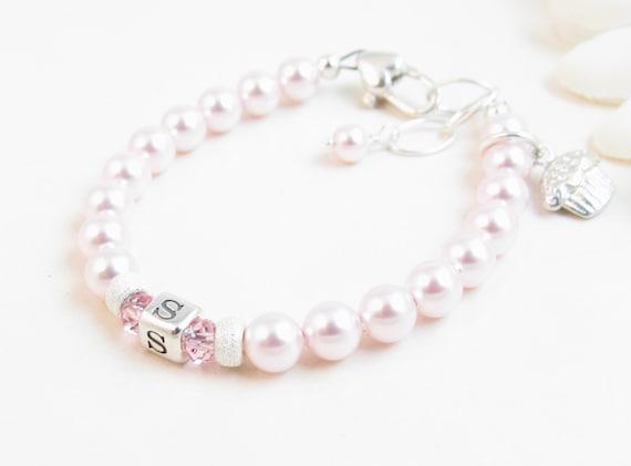 eb1b65ffd Personalized Baby Bracelet Christening or Baptism Gift | Etsy