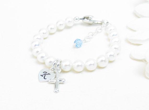 Cross Italian Charm Bracelet Link  First Holy Communion Confirmation