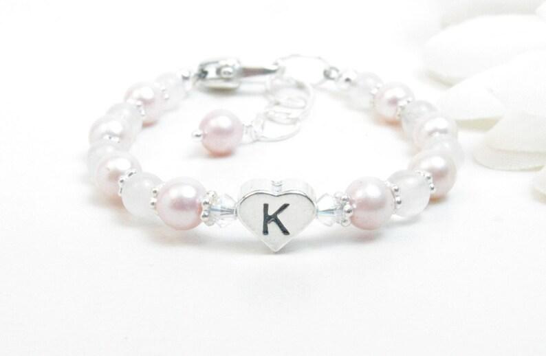 721f1b6b7 Personalized Baby Bracelet Infant Girl Bracelet Little Girl | Etsy