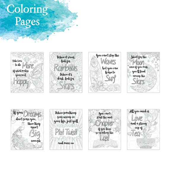Adult Inspirational Coloring Page Printable 07 The Next Chapter