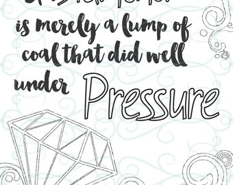 Adult Inspirational Coloring Page printable 15-Under Pressure