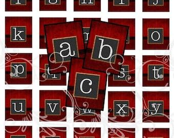 CHALKBOARD alphabet and more digital collage sheet scrabble tiles