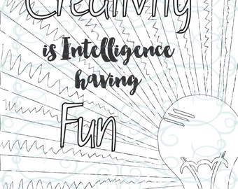Adult Inspirational Coloring Page printable 12-Creativity