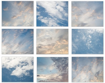 Large Abstract Photography Set Clouds and Sky