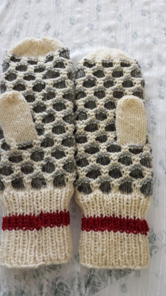 Wool Hand Knitted Traditional Newfoundland Style Teen Adult Etsy