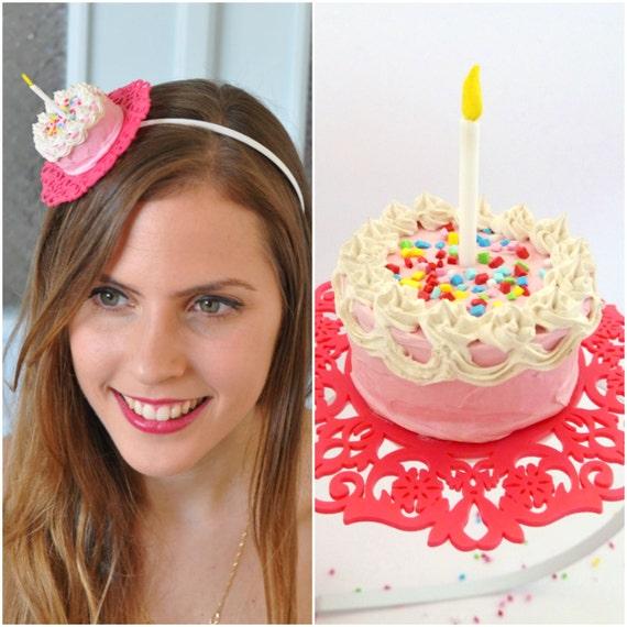 Birthday Headband Cake Adult Party Hats HeadbandCake HatBirthday HatsPink Hair Accessories
