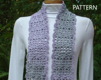 Spring Glory Scarf - PA-318 - Crochet Pattern PDF