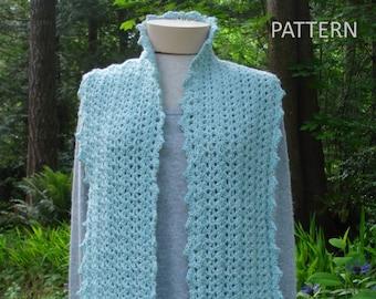 Oodles of Shells Pocket Scarf - PA-316 - Crochet Pattern PDF