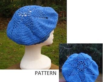 Starburst Beret - PA-152 - Crochet Pattern PDF -