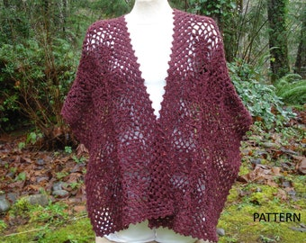 Complementing Motifs Stole - PW-114 - Crochet Pattern PDF