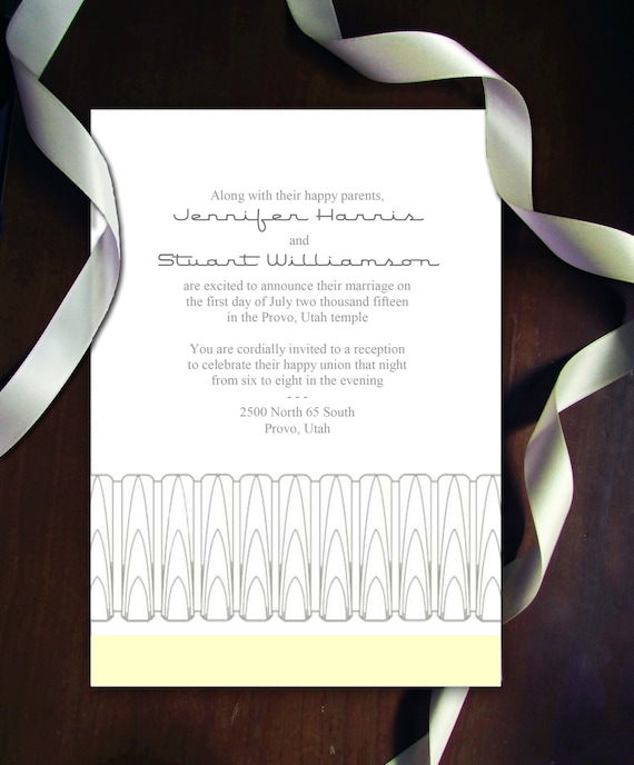 DIY Art Deco Arches Wedding Invitation Suite Printable