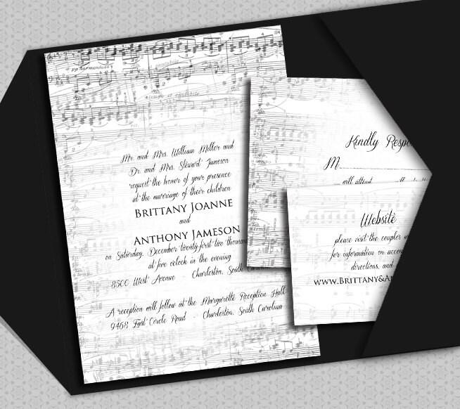 Music Invitation Template DIY Vintage Music Piano