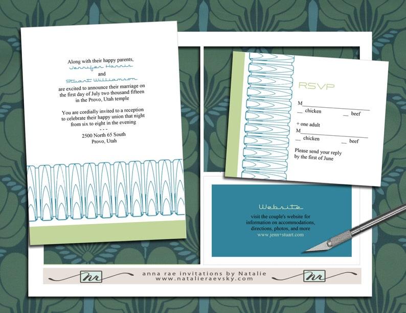 DIY printable RSVP NRDIY-11820 Art Deco Arches Wedding Invitation Suite