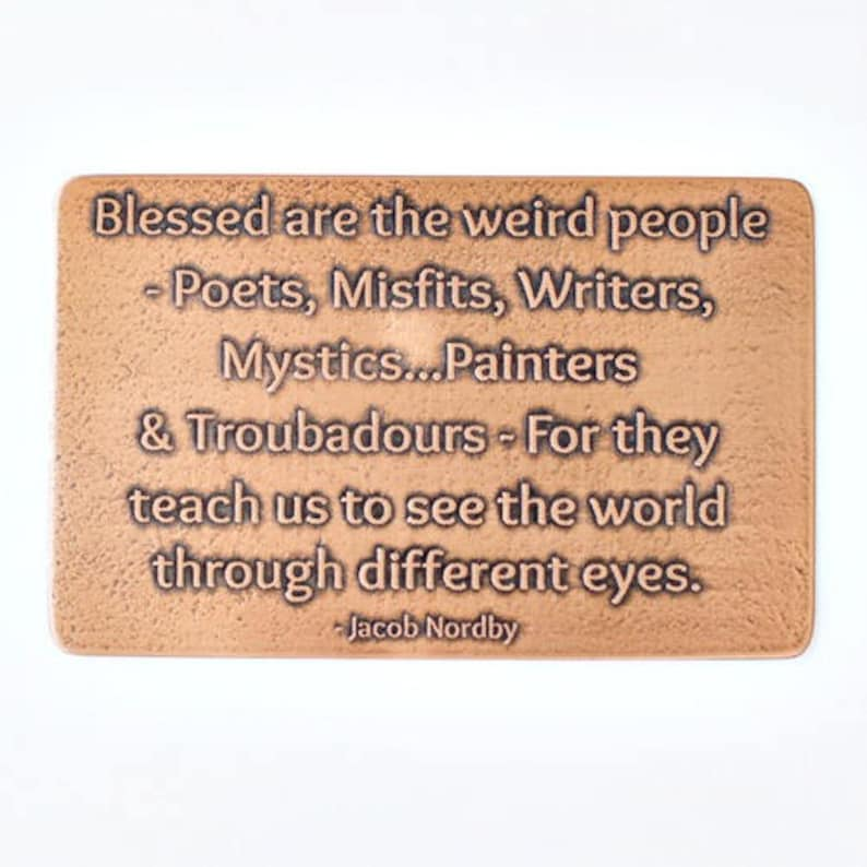 Blessed Are The Weird Etched Wallet Card Insert Etsy