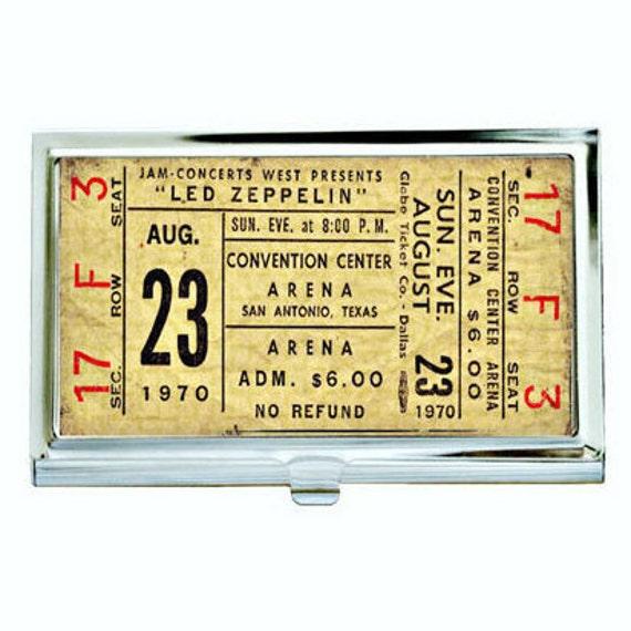Led zeppelin 1 vintage concert ticket business card case etsy image 0 colourmoves