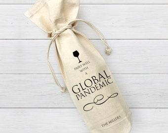 Custom Wine Bags Customize Your Wine Bag Custom Wine Bag Cute Wine Bag Gifts for Her Hosting Gifts Valentines Wine Bag Wine Gift Bag
