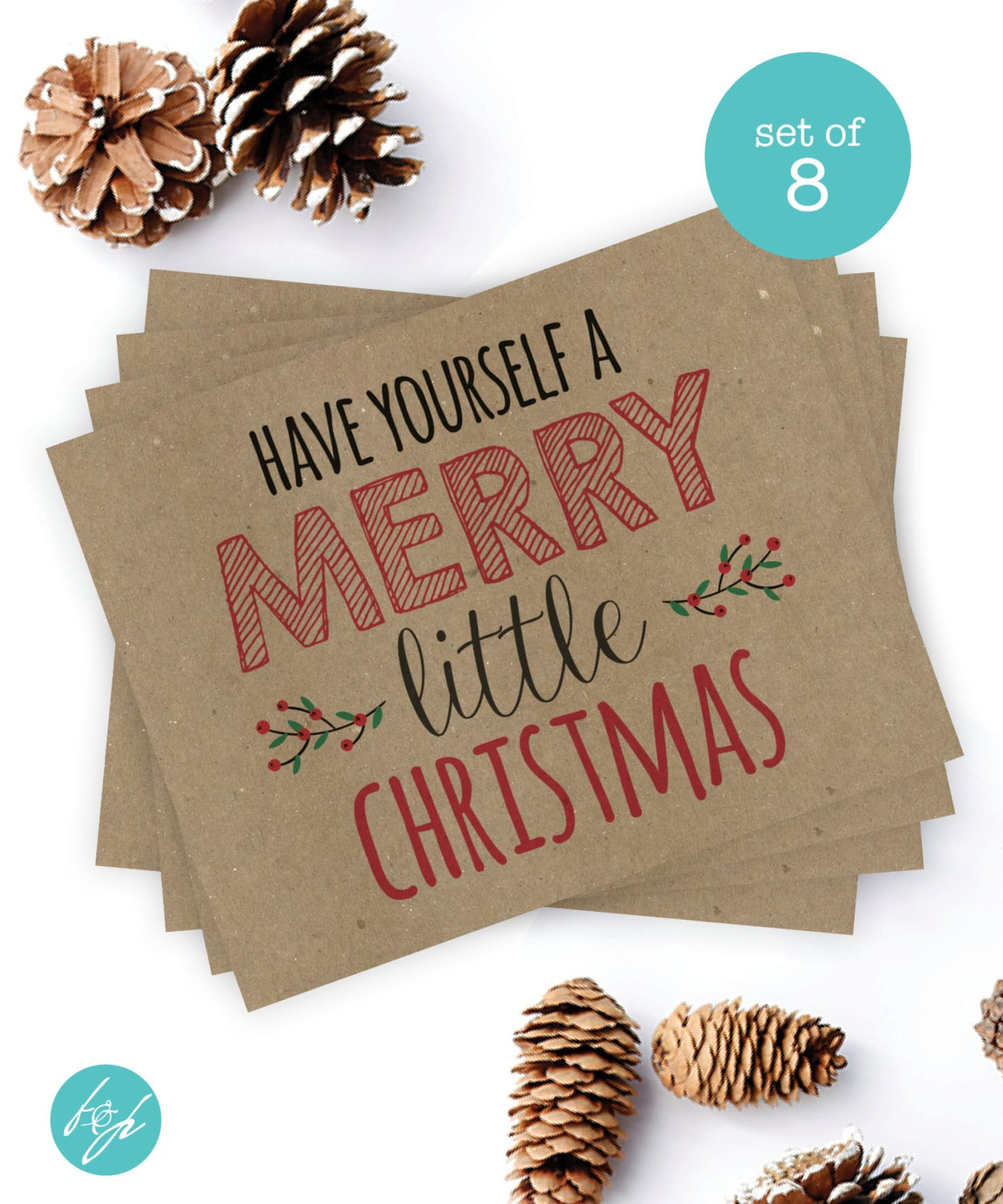 Christmas Card Set \'Have Yourself a Merry Little   Etsy