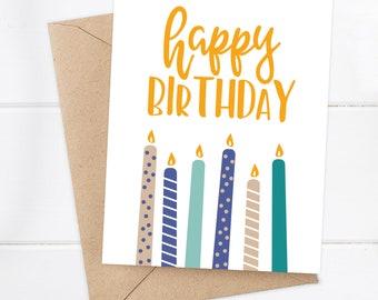 Birthday Card / Happy Birthday Card / Boyfriend Birthday / Friend Birthday