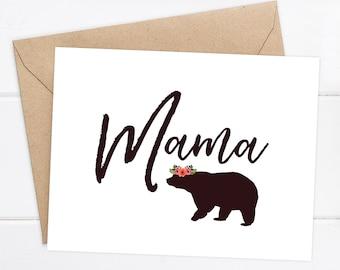 Mama Bear Card / Mother's Day Card / Mom Birthday Card / New Mom Card