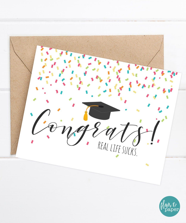 Congratulations Grad Card Funny Graduation Card Grad Card Etsy