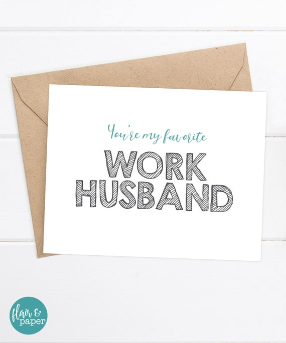 Funny Coworker Card Work Husband Card Funny Birthday Card Etsy