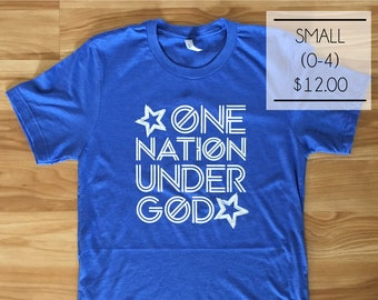 SALE - Size Small - One Nation Under God in Royal Blue