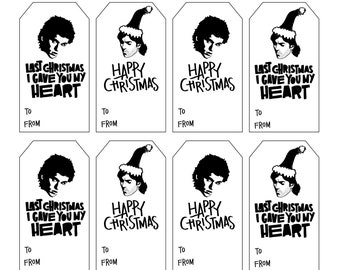 Last Christmas/Wham gift tag download