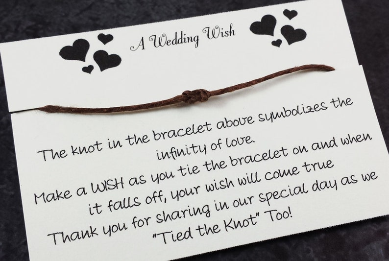 Wedding Wish Bracelet Favor  Wedding favors  Wedding Thank image 0