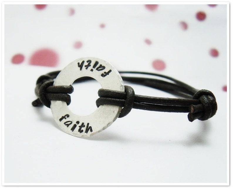 Sterling and Leather Bracelet for Women  Sterling Silver image 0