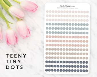 Teeny Tiny Dot Stickers, Circle Planner Stickers, Mini Dot Sticker, Small Dot, Bullet Journal Stickers, Happy Planner Stickers, Wedding Hues