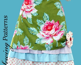 PDF Apron sewing pattern - Hostess with the Mostest  - PDF Instant Download - 5 DOLLARS - Holiday Apron, Fancy apron, French inspired