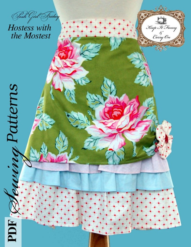 PDF Apron sewing pattern  Hostess with the Mostest   PDF image 0