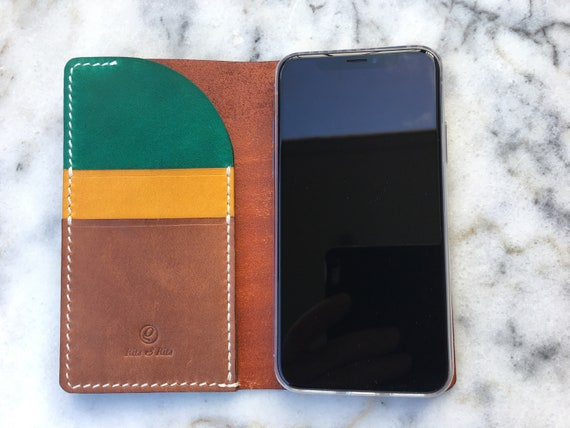 Leather iPhone 11 wallet, Leather iPhone 11 Pro 11 Pro Max XR XS Max wallet, Leather phone case