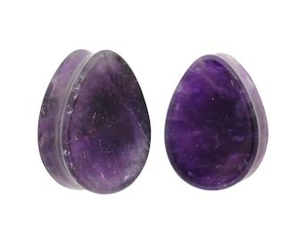 4g 00g Single Flare Plugs 78 6g 0g Stone Plugs Purple Amethyst Plugs 2g 34 1 716 916 Amethyst Stone Plugs
