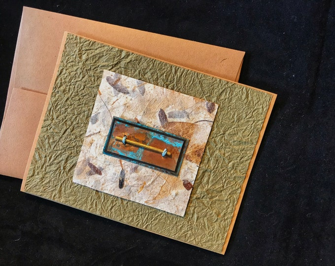 Handmade Card with Copper